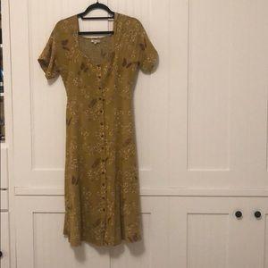 Madewell butterfly midi dress